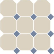 Керамогранит 4416 OCT11-1Ch White Octagon 16/Blue Cobait Dots 11 30x30