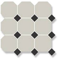 Керамогранит 4416 OCT14-1Ch White Octagon 16/Black Dots 14 30x30