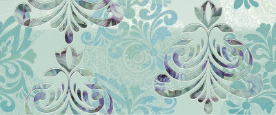 Декор Milady Wallpaper Water Green 25x60